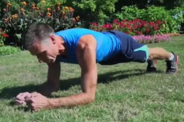 Fitness instructor Tom Hoel, world planking champion