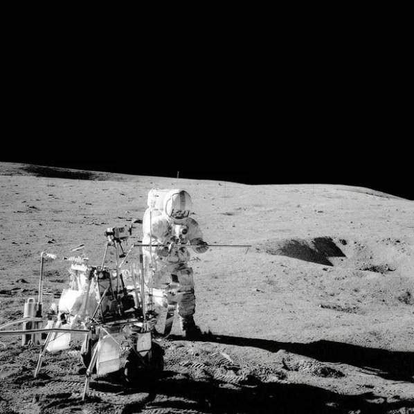 Apolo 14: Capitão Alan Bartlett, colega de tripulação de Edgar Mitchell, na Lua