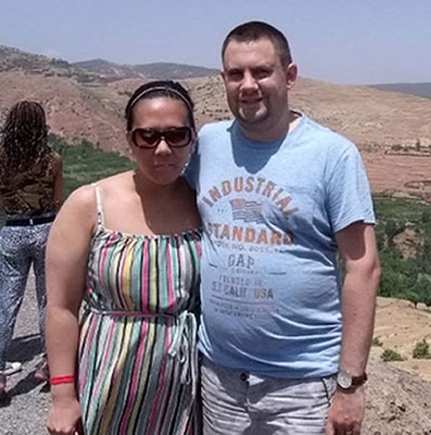 Chris Dyer, 32, from Watford, who was shot dead in Sousse. He is pictured with his wife, Gina Van Dort, 30, who was shot through the face and received shrapnel injuries