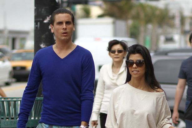 Kourtney Kardashian and Scott Disick are very happy in Miami on New Year's Eve 2011