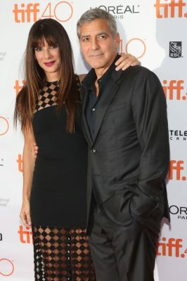 """George Clooney and Sandra Bullock attend the premiere of """"Our Brand is Crisis"""""""