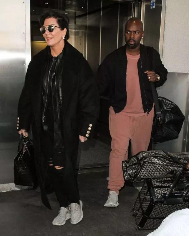 Kris Jenner and boyfriend Corey Gamble at LAX