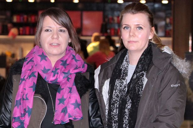 Mariesha Payne and Christine Tudhope arriving at Edinburgh airport
