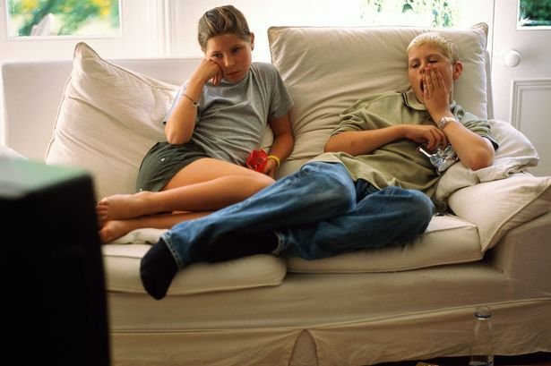 Image result for watching TV on a new couch