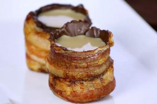 Bacon-Chocolate Shot Glasses