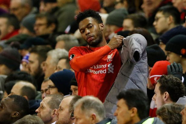 Daniel Sturridge as he is substituted