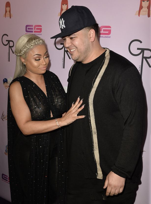 Rob Kardashian and Blac Chyna Attend Her Chymoji Launch Party