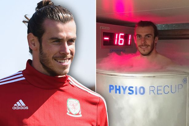 Bale has been enjoying his downtime ahead of the clash with Russia with Cryotherapy