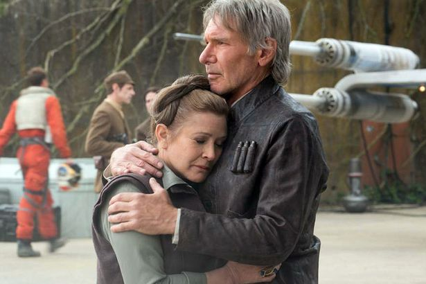 Leia (Carrie Fisher) & Han Solo (Harrison Ford)