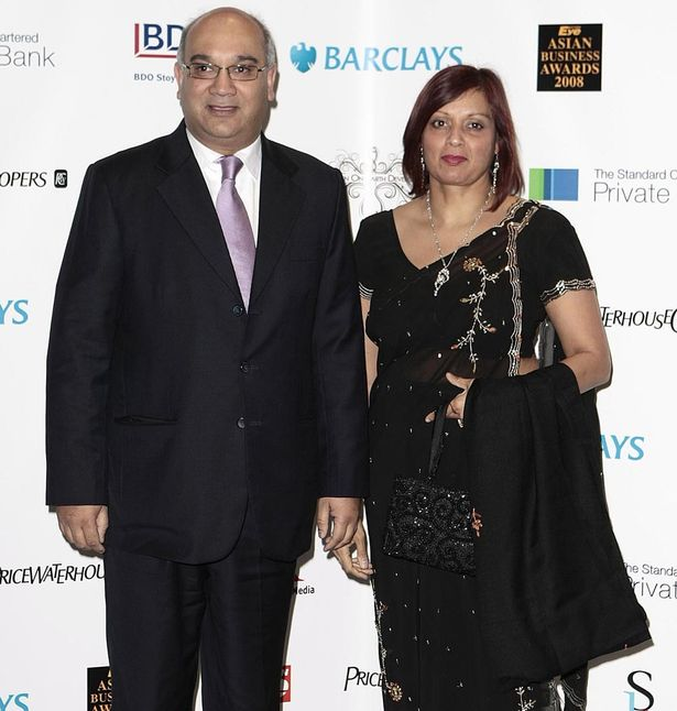 Labour MP Keith Vaz arrives with his wife Maria Fernandez at the Eastern Eye Asian Business Awards at Wembley Stadium.
