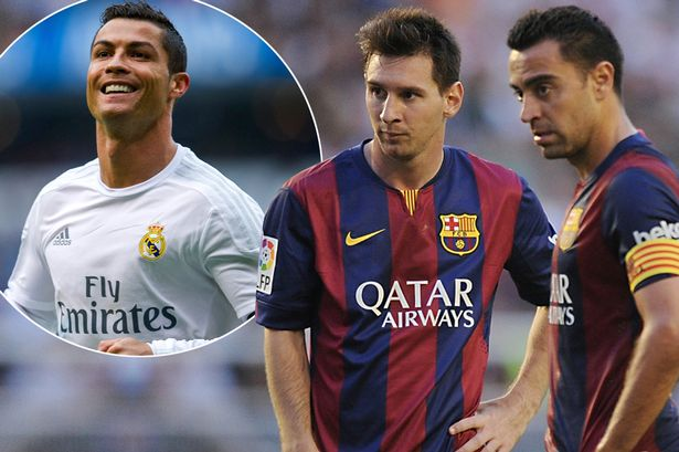 Image result for Xavi Ronaldo Messi