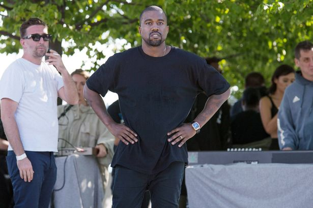 Kanye West at his Yeezy: Season 4 show