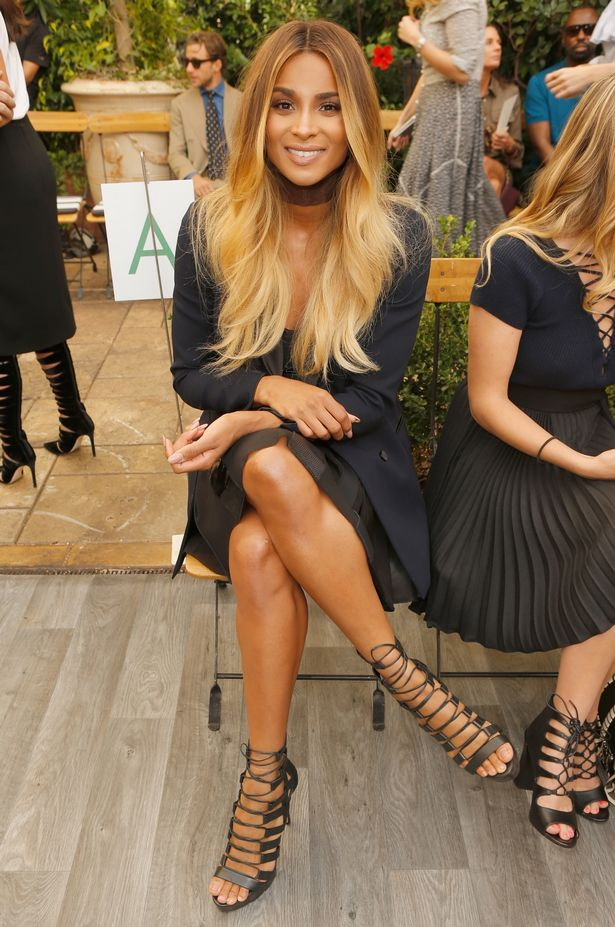 Singer Ciara at the CFDA/Vogue Fashion Fund Show