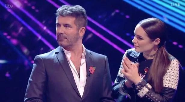 Matt Terry jumps on Nicole in X Factor result show