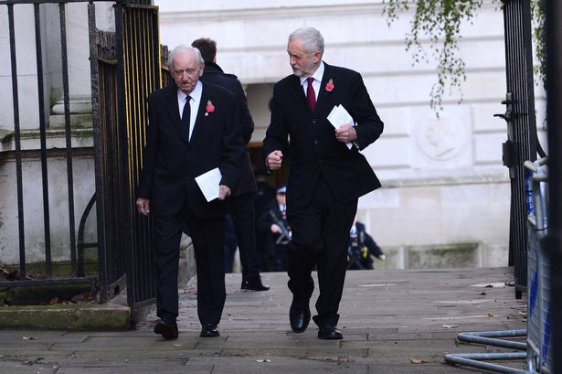 Jeremy Corbyn and Colleague arrive at Downing Street