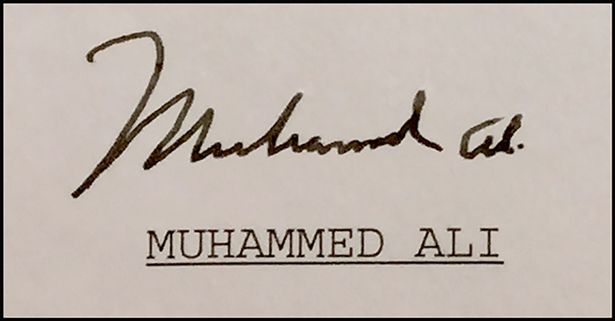 A letter sent from Muhammad Ali to Nelson Mandela, two of the greatest personalities of the 20th century, has come to light from the nervous secretary who typed it.