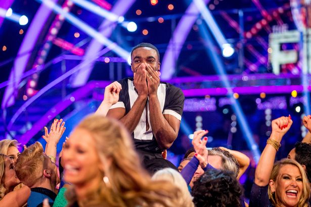 Joanne Clifton and Ore Oduba, winners of Strictly