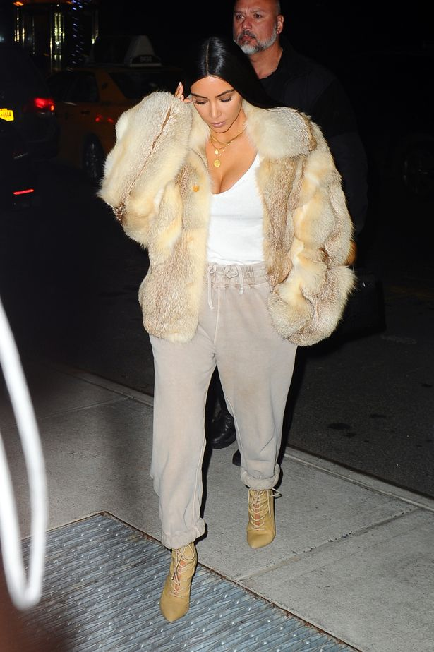 Image result for kim kardashian fur jacket fall 2017