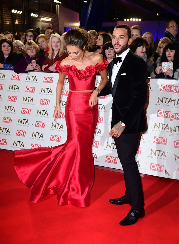 Megan McKenna and Pete Wicks arriving at the National Television Awards 2017