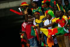 Image result for Cameroon fans celebrate AFCON title in Doula