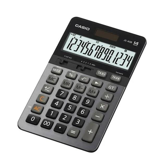 【CASIO卡西歐】14位數雙電源頂級商用計算機(JS-40B)