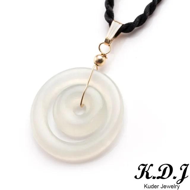 【K.D.J 圓融珠寶】高冰雙玉扣平安扣翡翠墜飾天然A貨