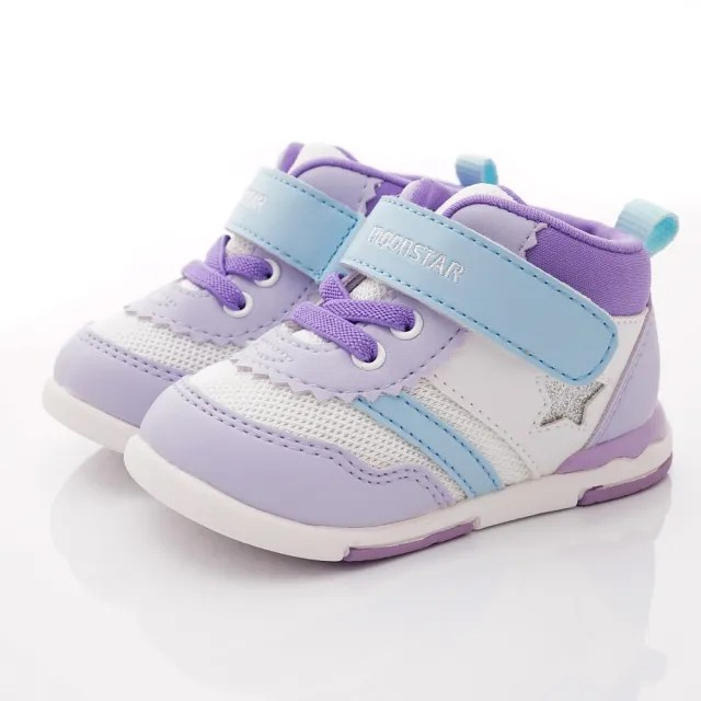 【MOONSTAR 月星】HI系列護踝機能童鞋款(MSB959紫白-13-17cm)