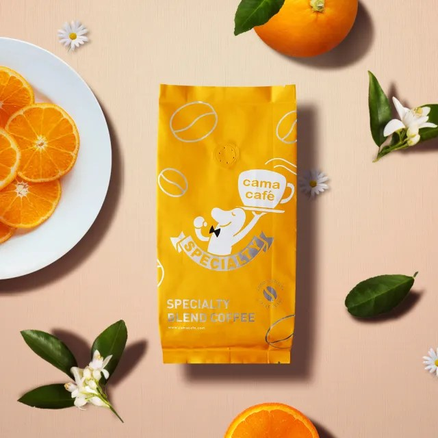 【cama cafe】鎖香煎焙系列咖啡豆-淺焙柑橘花蜜(250g/1包)