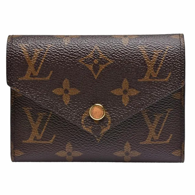 【Louis Vuitton 路易威登】M62360 Victorine系列經典Monogram原花三折暗釦短夾(玫粉)