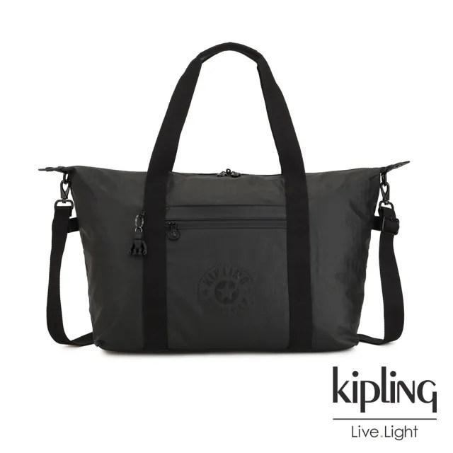 【KIPLING】低調質感霧黑手提側背包-ART M