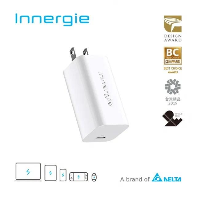 【Innergie】60C Pro 60瓦 USB-C 筆電充電器(ADP-60BW BTA)