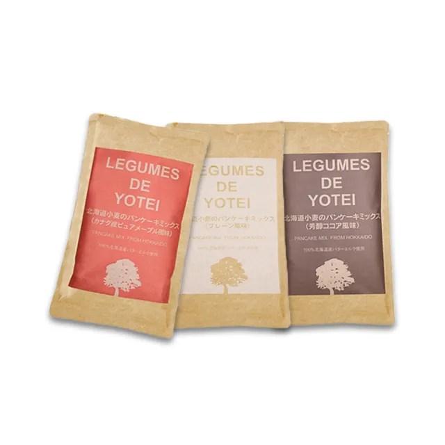 【北海道LEGUMES DE YOTEI】無添加小麥鬆餅粉180g口味任選( 原味/沖繩黑糖/抹茶/法式可可/楓糖)三入組
