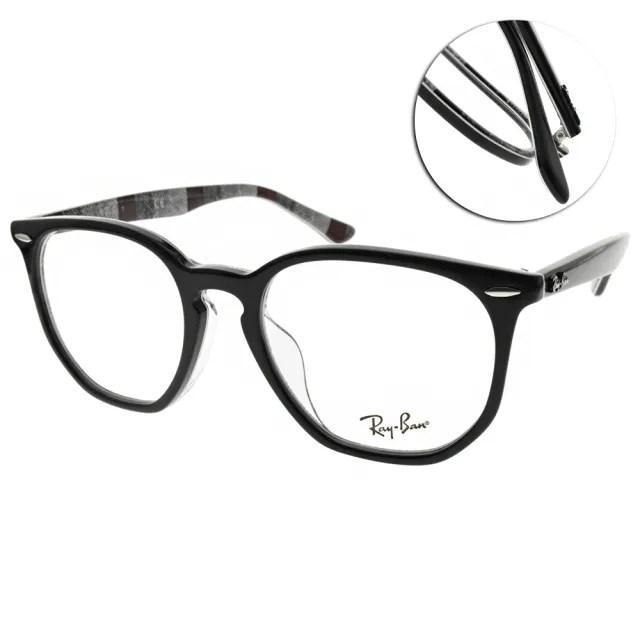 【RayBan 雷朋】光學眼鏡 HEXAGONAL OPTICS 造型圓框款(黑 #RB7151F 8089-52mm)
