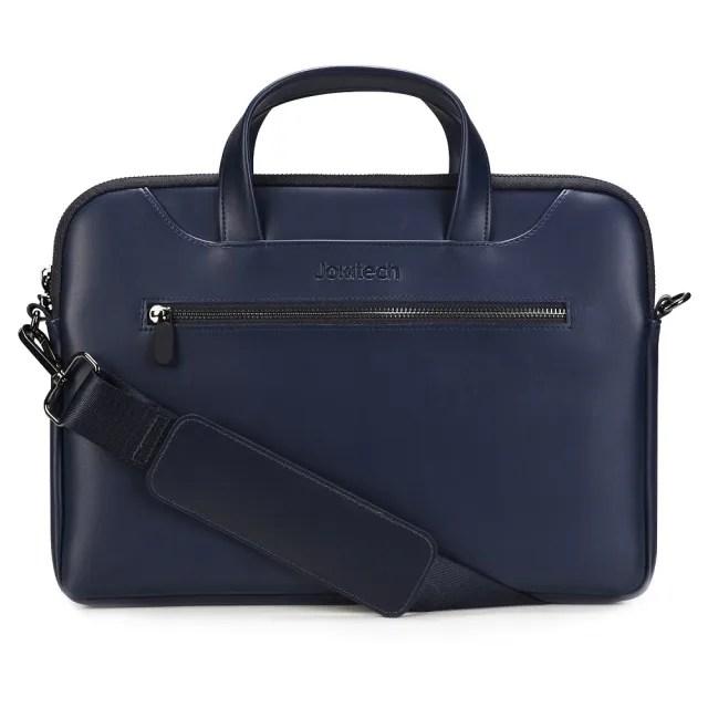 【Jokitech】13吋 13.3吋 Macbook筆電包 通用手提電腦包 深藍(事務包 公事包)
