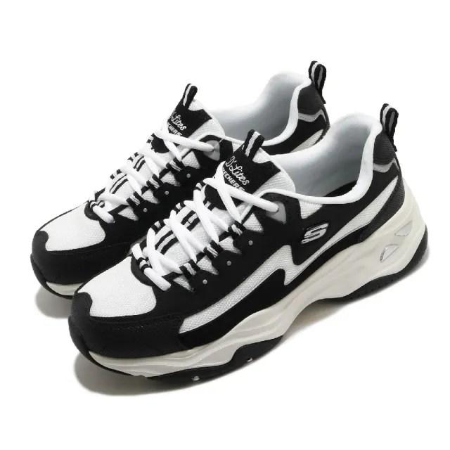 【SKECHERS】休閒鞋 D Lites 4.0 厚底 女鞋 老爹鞋 膠底 防滑 穩定 修飾腿型 黑 藍(149491BKW)