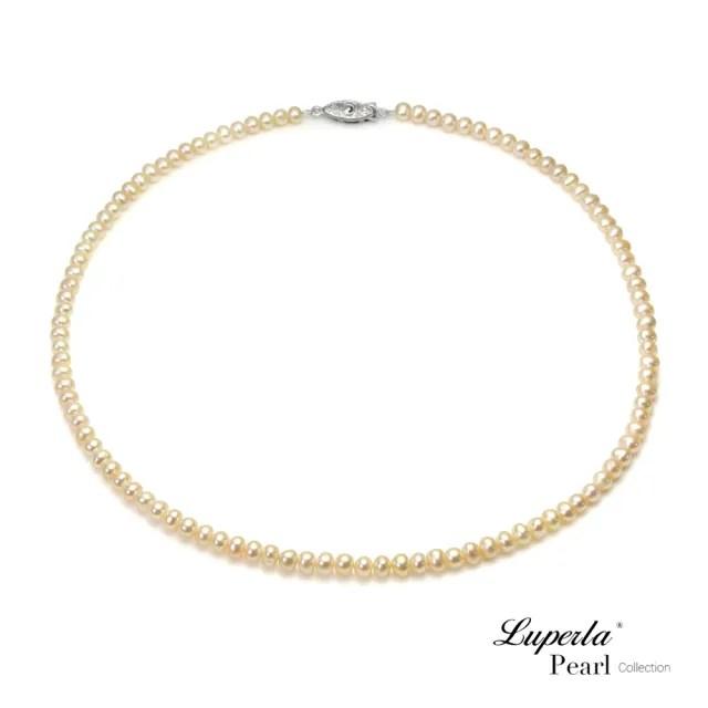 【大東山珠寶】輕時尚淡水珍珠項鍊 櫻粉色(時尚珍珠)