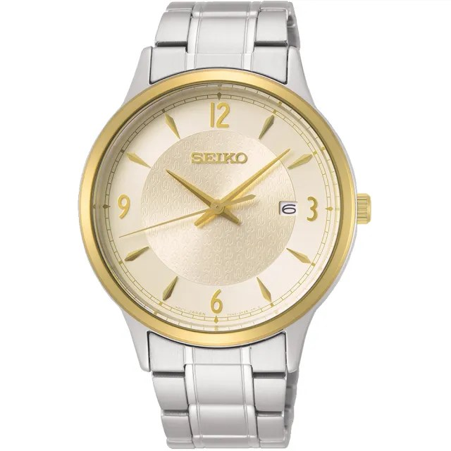 【SEIKO 精工】CS 50周年紀念款 大三針男錶-金x銀/40mm(7N42-0GJ0Y/SGEH92P1)