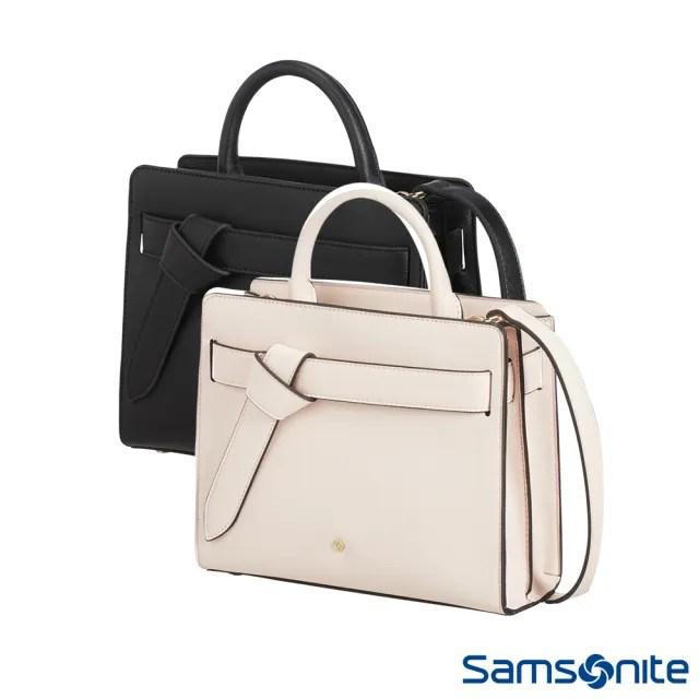 【Samsonite 新秀麗】My samsonite經典優雅皮革女性肩背包 多色可選(CG1)