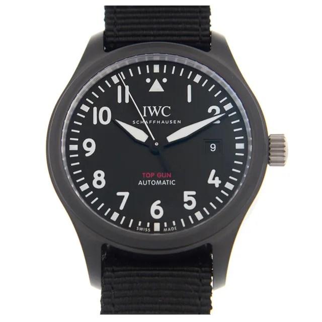 【IWC 萬國錶】飛行員黑色陶瓷機械帆布款x黑x41mm(IW326901)