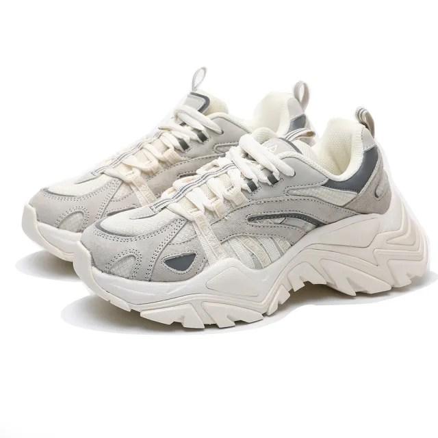 【FILA】老爹鞋 INTERATION 復古 厚底 增高 奶茶色 情侶款 休閒鞋 男女(4C602U920)