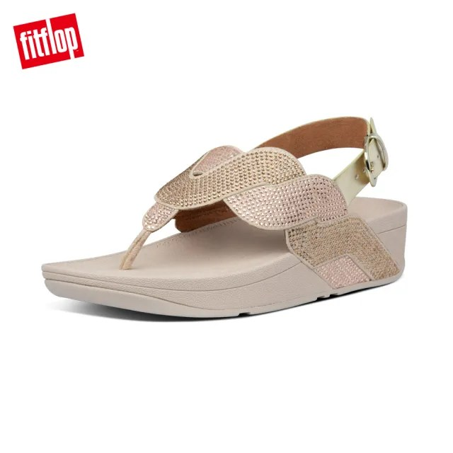 【FitFlop】PAISLEY ROPE BACK-STRAP SANDALS 漸層水鑽後帶涼鞋-女(金鉑色)