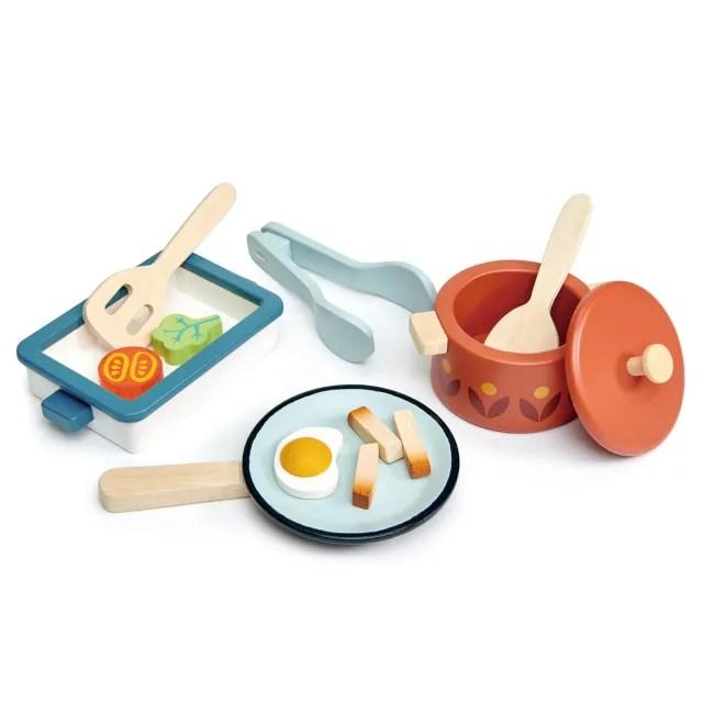 【Tender Leaf Toys】輕食鍋具組(廚房家家酒系列)