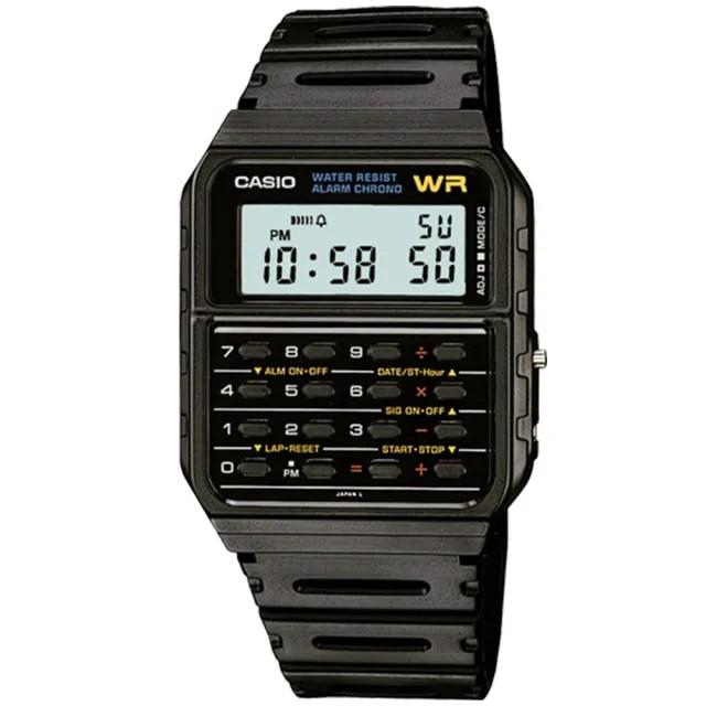 【CASIO 卡西歐】復古風潮計算機電子錶(CA-53W-1)