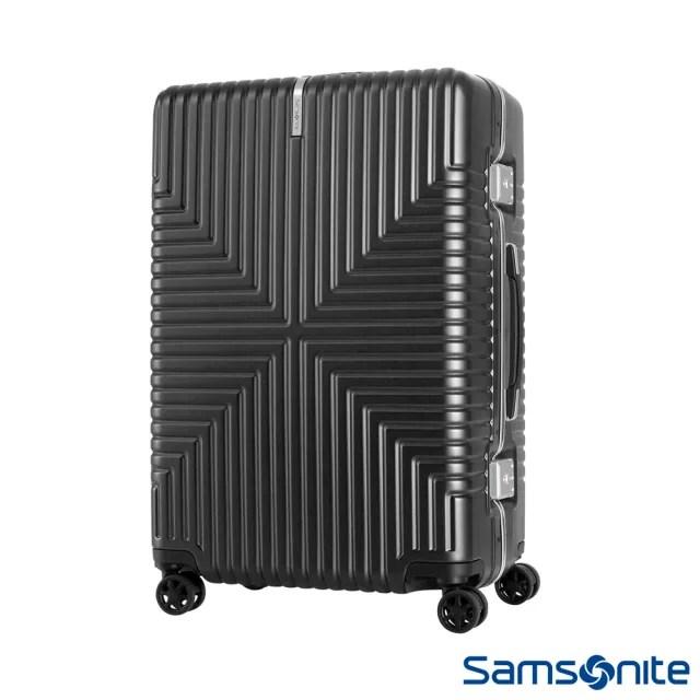 【Samsonite 新秀麗】28吋Intersect 高質感PC鋁框硬殼TSA行李箱 黑(GV5)