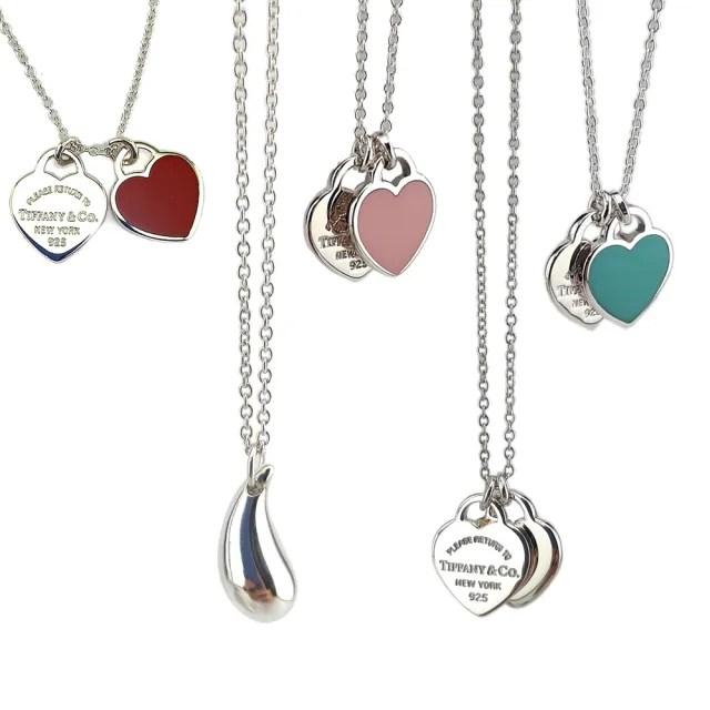 【Tiffany&Co. 蒂芙尼】五款任選-經典925純銀墜飾項鍊(全新展示品)
