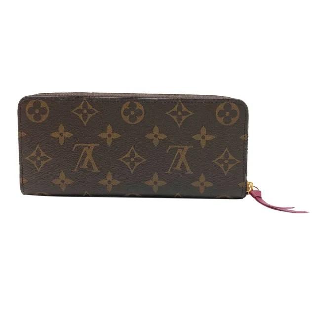 【Louis Vuitton 路易威登】Clemence系列 Monogram帆布拉鍊長夾(M60742-紫紅)