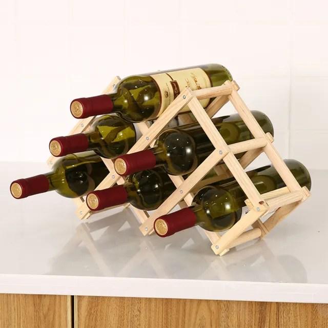 【JOEKI】小組折疊實木酒架-CC0184(實木酒架 萬用架 葡萄酒架 烈酒架 玻璃瓶架)