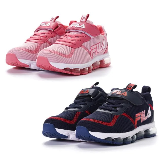 【FILA】KIDS 氣墊慢跑鞋 童鞋 運動鞋 康特杯(3-J812V-332/3-J812V-551 兩色任選)