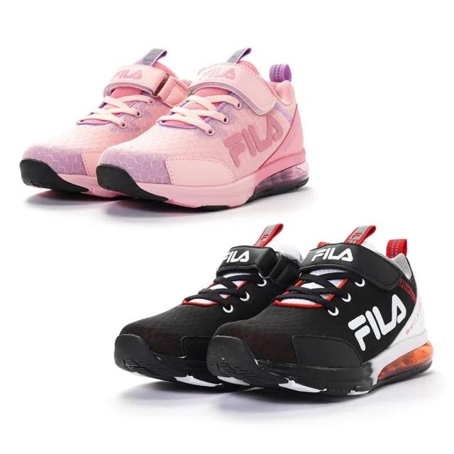 【FILA】KIDS 氣墊慢跑鞋 童鞋 運動鞋 康特杯 支撐鞋墊(3-J803V-012/3-J803V-595 兩色任選)