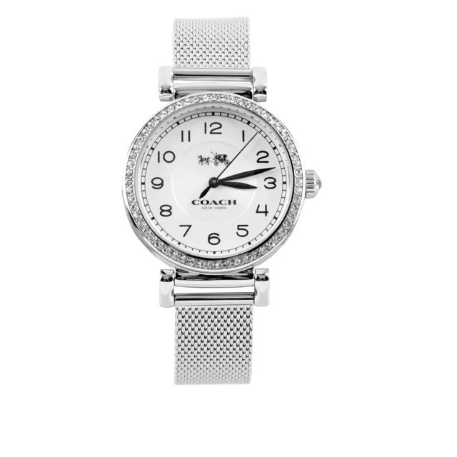 【COACH】Madison 水鑽鑲嵌女錶(銀色)